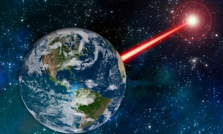 Scientists have already proposed in the past to to use powerful lasers to signalize aliens. Image Credit: MIT News.