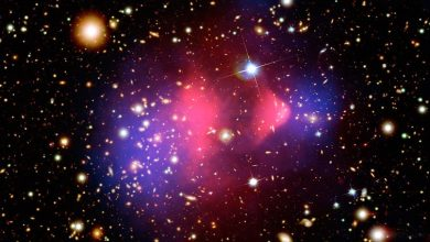 The bullet cluster. Image Credit: NASA/CXC/M. Weiss.