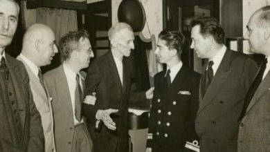 Photograph of Nikola Tesla and King Peter II taken in 1942.