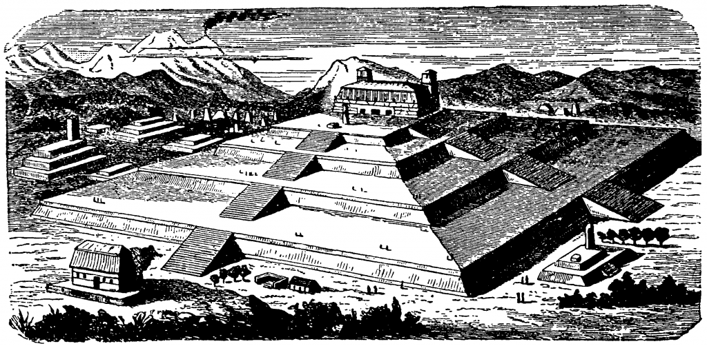 Artist's conception of what the pyramid might have looked like. Image Credit: Wikimedia Commons.