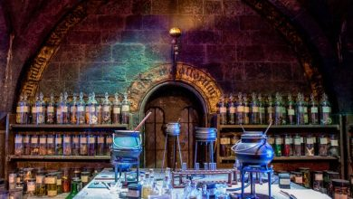 The potions classroom at the Making of Harry Potter Studio. Alex Volosianko