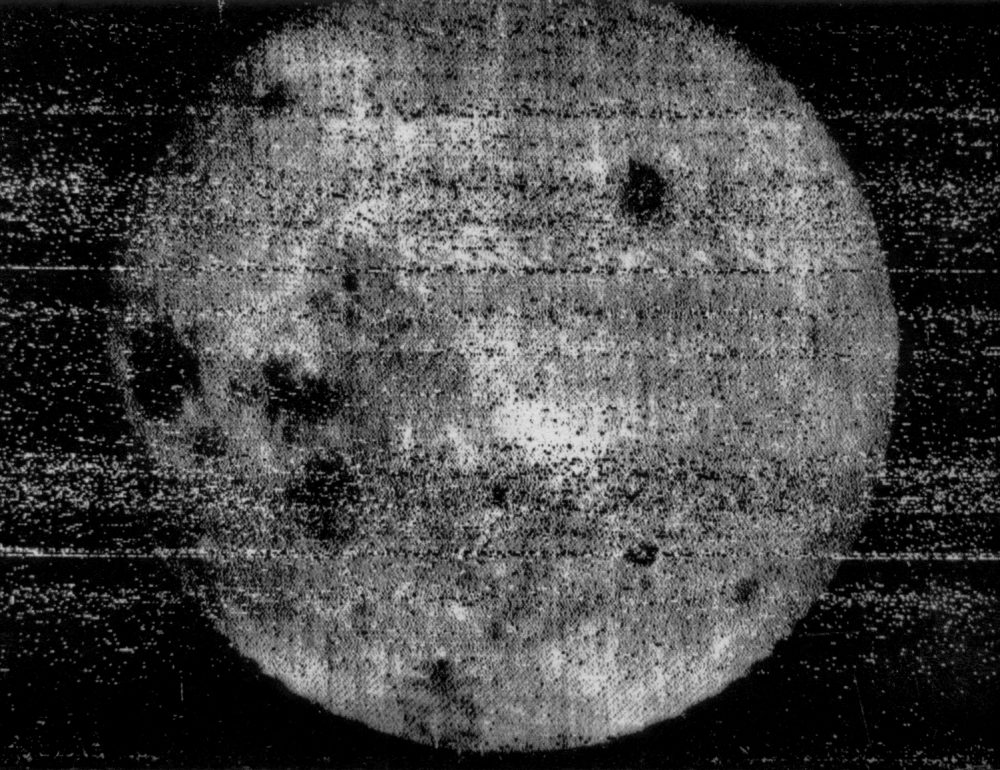 The October 7, 1959, image by Luna 3 which revealed, for the first time, the far side of the Moon. Image Credit: Wikimedia Commons / Public Domain.