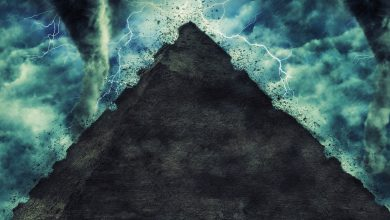 A pyramid and a storm, artists rendering. Shutterstock.