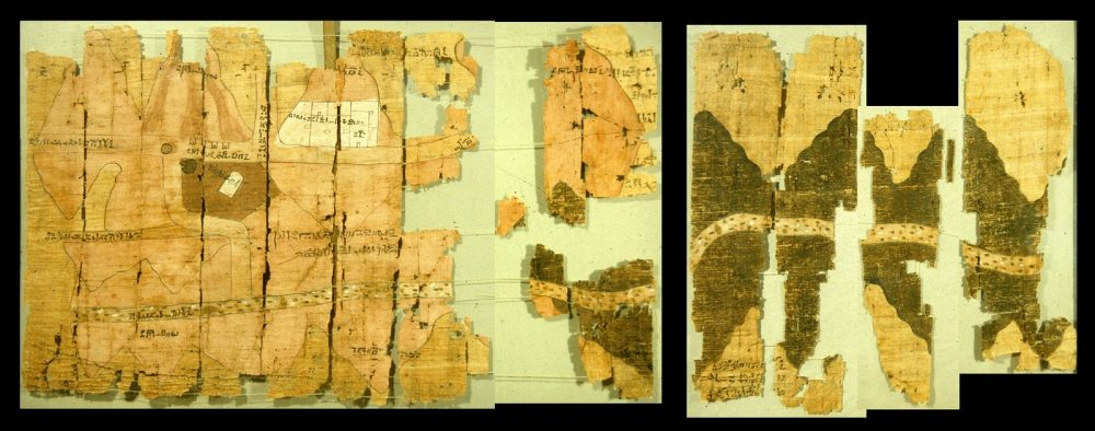 Fragments of the Turin Papyrus map. Image Credit: Public Domain.