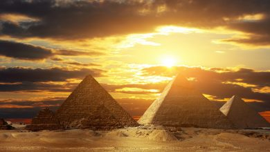 The Pyramids at Giza. Shutterstock.