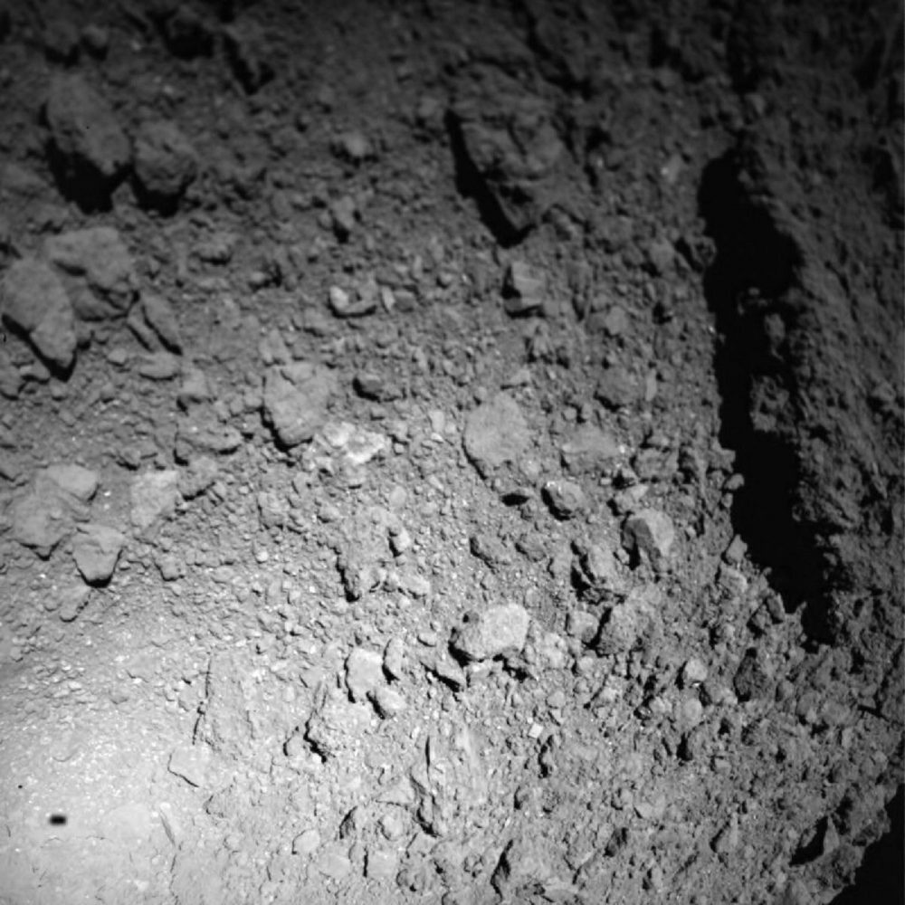 Surface features of Asteroid Ryugu. Jaumann et al (Science (2019).