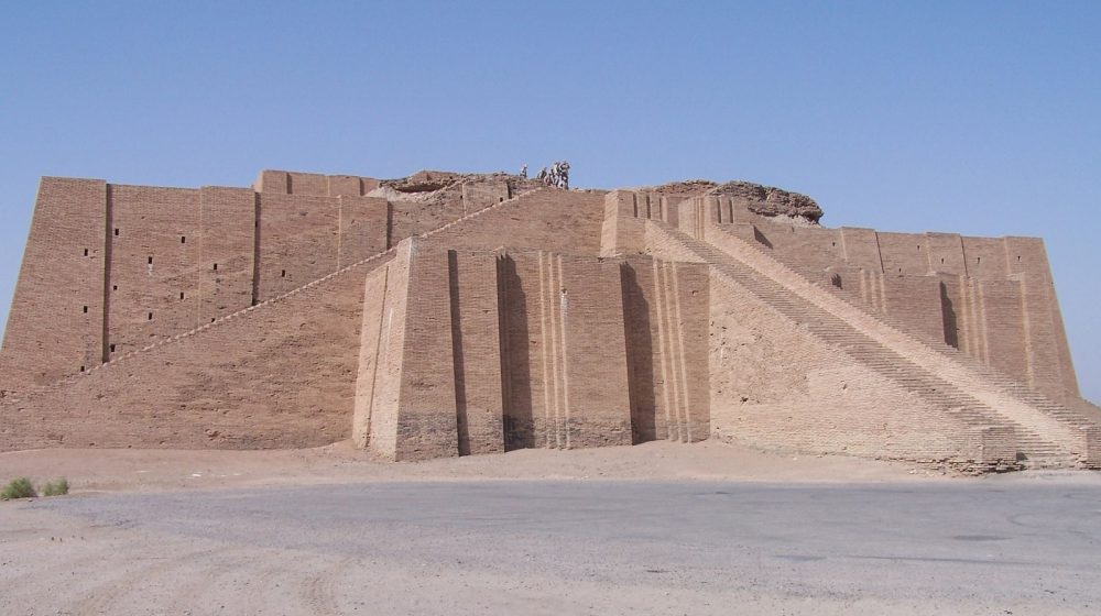 Partially reconstructed facade and the access staircase of the Ziggurat of Ur. Image Credit: Wikimedia Commons / CC BY-SA 3.0.