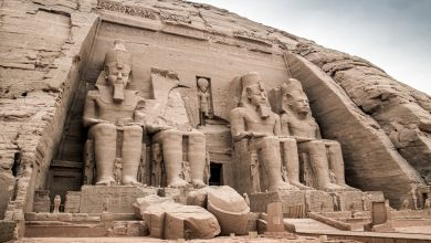 The exterior of the Great Temple at Abu Simbel. Shutterstock.