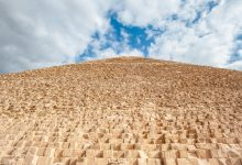 The immense size of the Great Pyramid of Giza. Shutterstock.