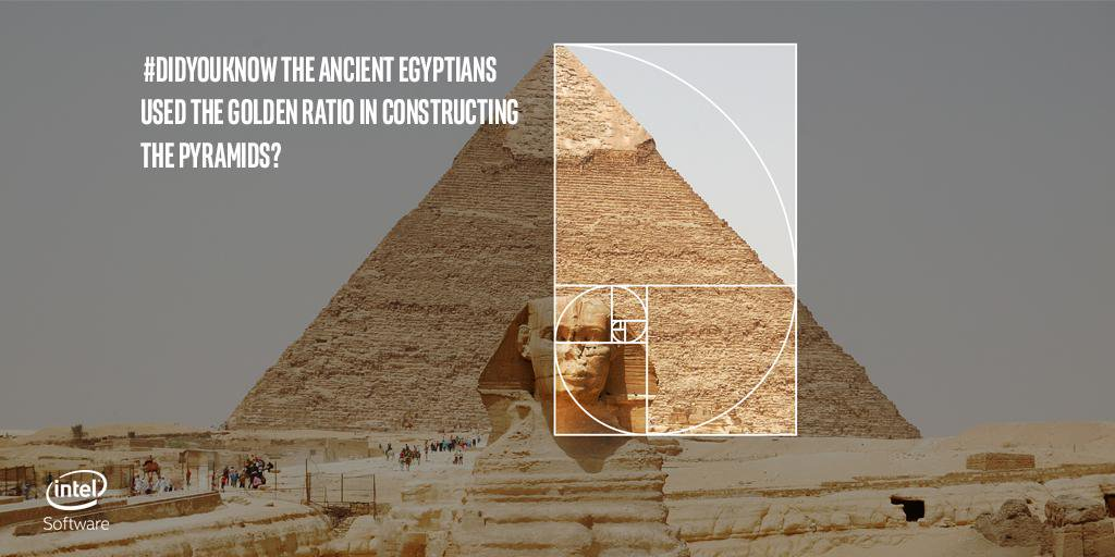 Khafre's Pyramid, the Sphinx, and the golden ratio. Image Credit: Intel / Twitter.