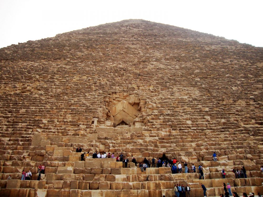 The Great Pyramid of Giza is the largest pyramid built in Egypt. Shutterstock.