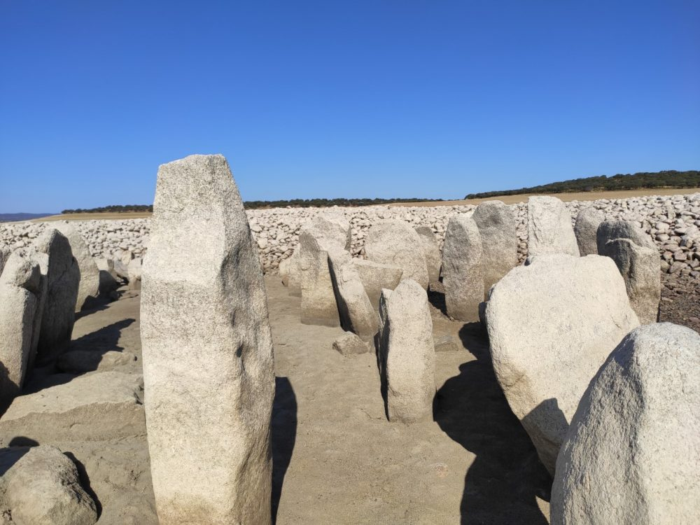 The sculpted Menhirs at the Spanish Stonehenge which dates back around 5,000 years. Image Credit: Wikimedia Commons.