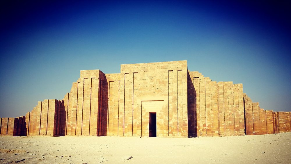 Djoser's wall pyramid complex enclosure. Shutterstock.