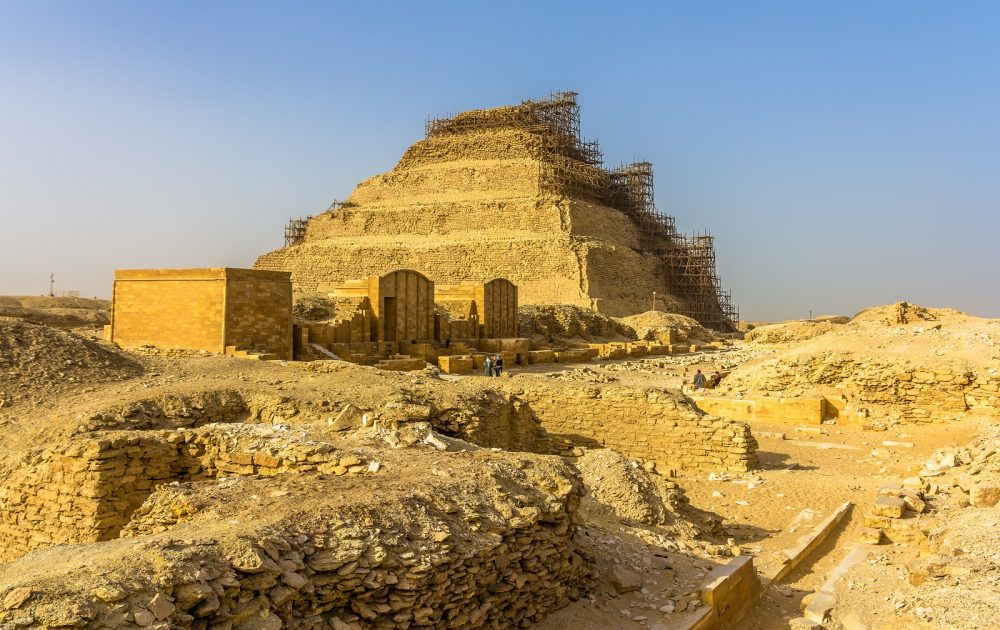 The Step Pyramid of Djoser and its pyramid complex. Shutterstock.