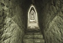 A tunnel inside the Great Pyramid of Cholula. Shutterstock.