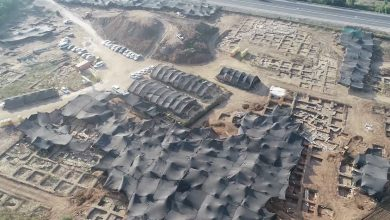 Aerial view of the massive, ancient city in Israel. Image Credit: IAA.