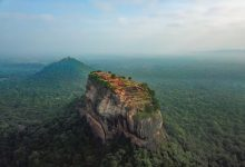 Aerial view of the Sky Fortress of Sigiriya in Sri Lanka. Shutterstock.