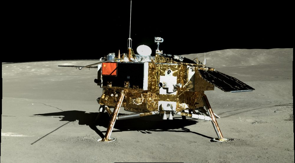 An image of the Chang'e 4 lander on the far side of the Moon. Image Credit: CLEP/Doug Ellison, Twitter.