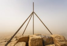 An unprecedented view of the summit of the Great Pyramid of Giza. Image Credit: Andrej Ciesielski.