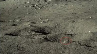An image of the surface of the far side of the moon, showing one of the mysterious rock samples spotted by Yutu-2. Image Credit: CNSA / CLEP/ Our Space.