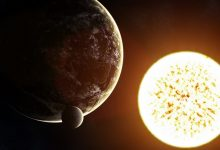 An artist's rendering of a distant exoplanet. Shutterstock.