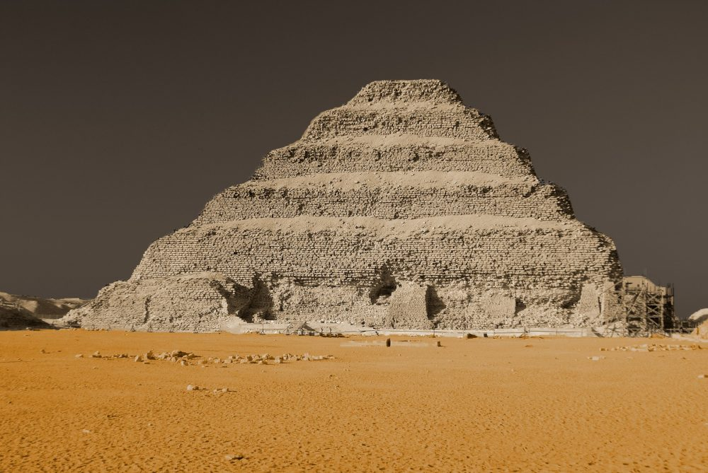 A view of the Step Pyramid of Djoser at the royal necropolis of Saqqara, Egypt. Shutterstock.