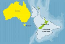 Zealandia: Secrets of Earth's Long-Lost Seventh Continent Located Mostly Beneath the Ocean. Shutterstock.