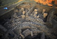 An aerial / overhead view of the stone circles at Göbekli Tepe taken in 2013. Image Credit: DAI, Göbekli Tepe Project.