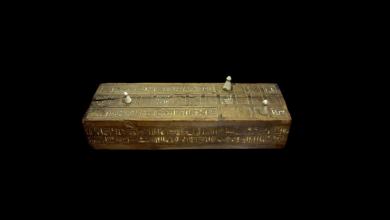 An illustration of the ancient Egyptian board game Senet. Image Credit: https://ancientegypt.fandom.com.