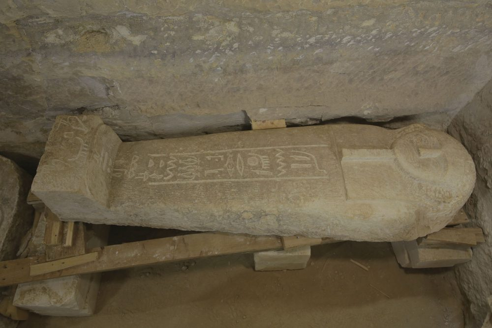 An image of the sarcophagus of an ancient Egyptian priest known as Ayput. Image Credit: https://uni-tuebingen.de.