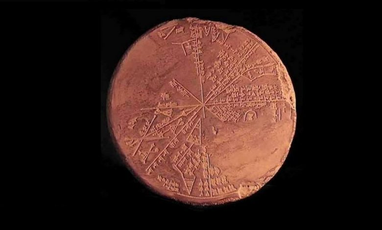 An image of the ancient Sumerian Star Map.