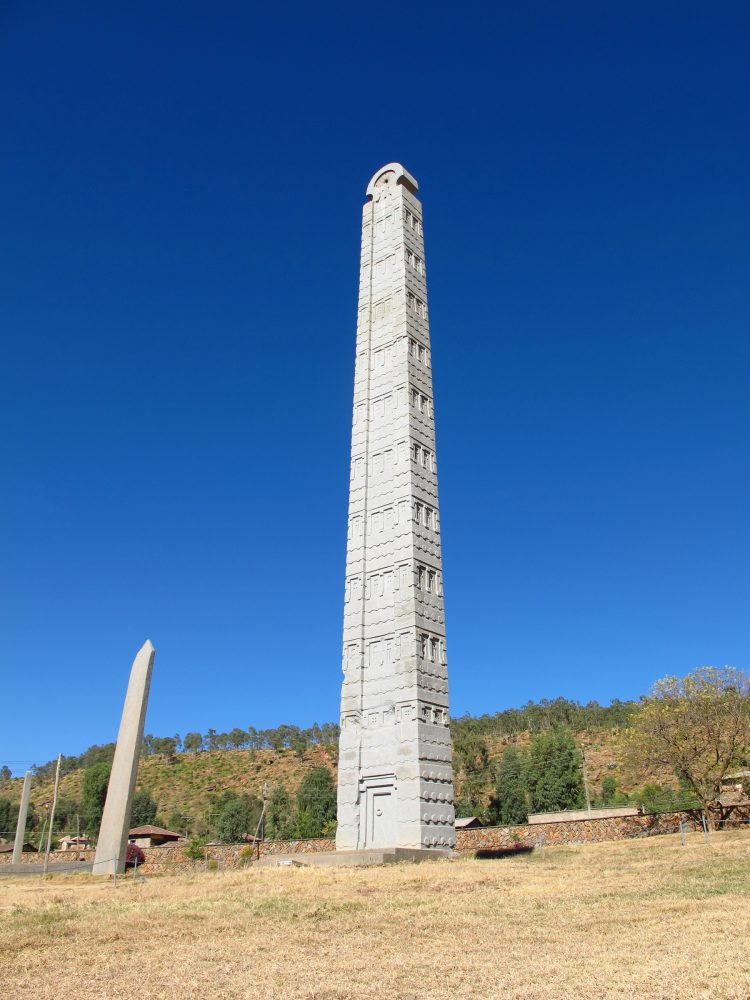 An image of the Obelisk of Axum, Ethiopia. Shutterstock.