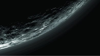 An image of haze layers above Pluto's limb taken by the Ralph/Multispectral Visible Imaging Camera (MVIC). Image Credit: New Horizons.