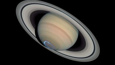 A view of Saturn's south pole. Jumpstory.