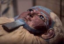 An image of an ancient Egyptian mummy.