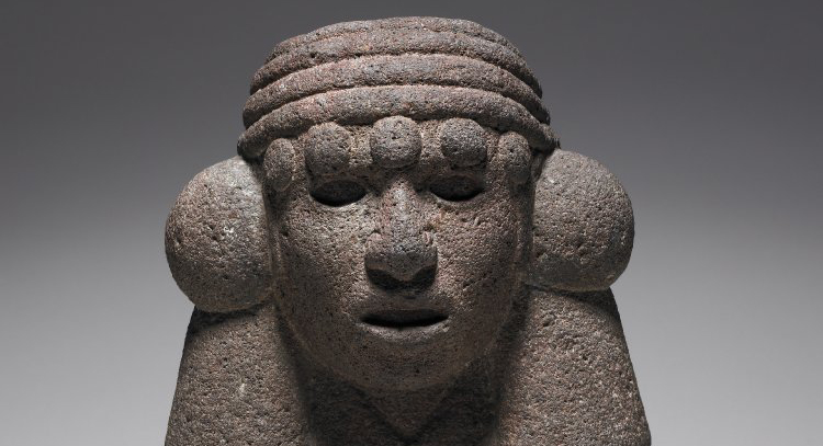 The stone figurine of Chalchiuhtlicue. The artifact is housed at the British Museum. Image Credit: British Museum.