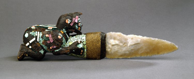 An image of a rare sacrificial knife of the ancient Mexica. Image Credit: British Museum.