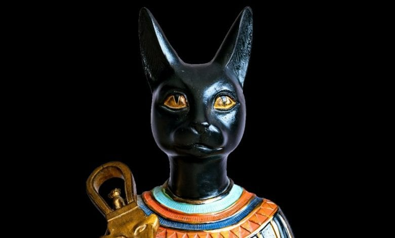 The Egyptian Cat Goddess Bastet.
