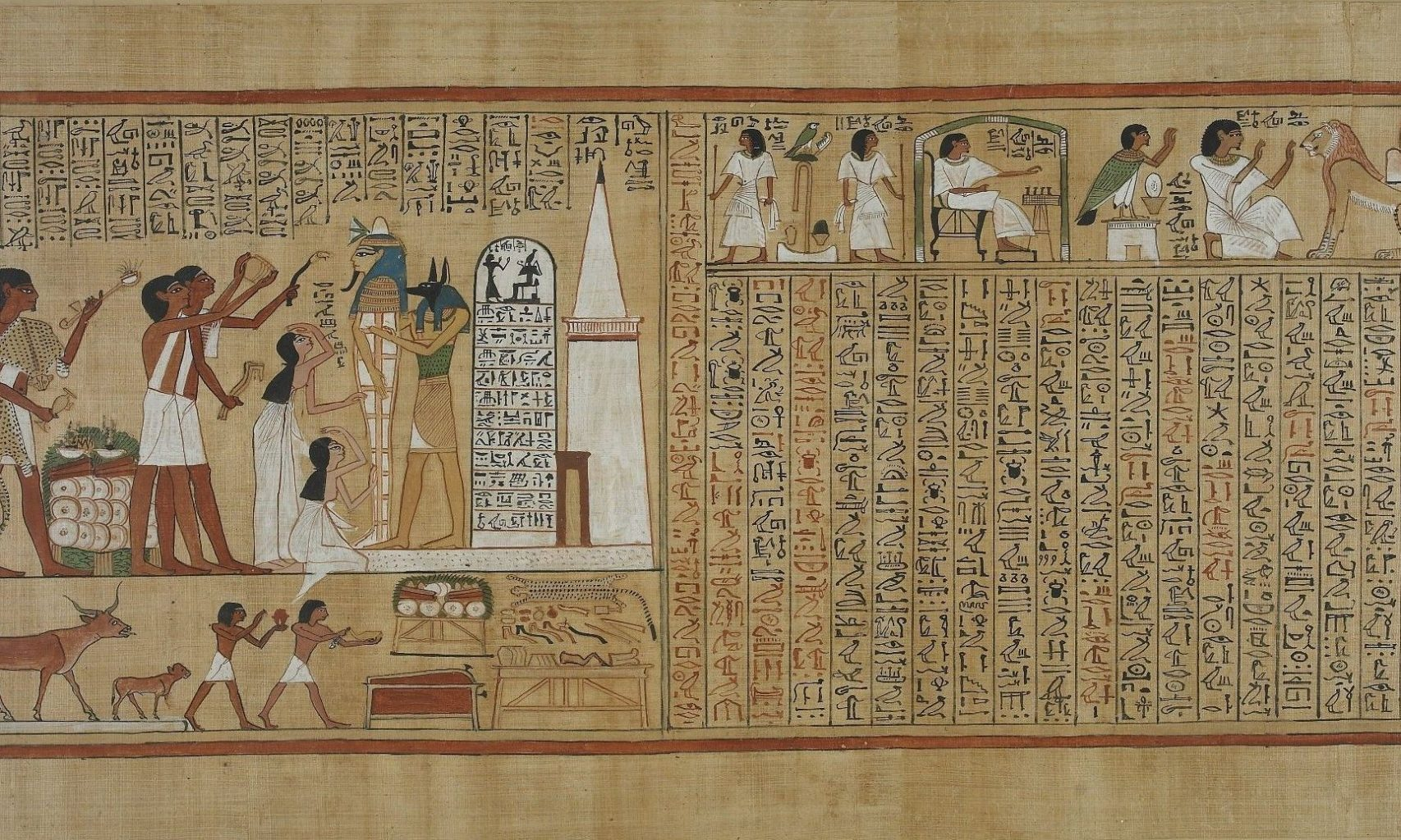 Panel of a copy of the Book of the Dead.