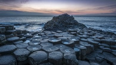 A view of Giants causeway in Northern Ireland. Jumpstory.