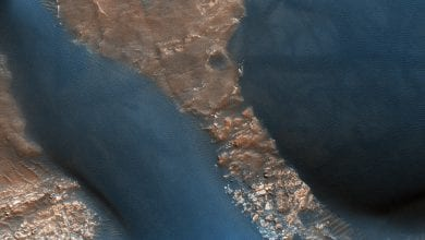 An image of active Dunes in Wirtz Crater. This image was taken by the HiRISE instrument on board on board the Mars Reconnaissance Orbiter. Image Credit: NASA/JPL-Caltech/University of Arizona.