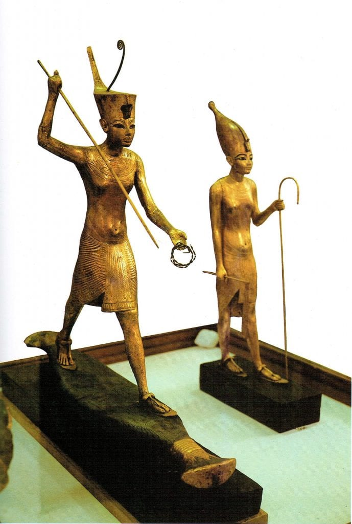Two of the many Golden Statuettes from the treasures of Tutankhamun.