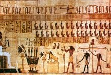 An example of ancient Egyptian illustrations and hieroglyphs. Jumpstory.