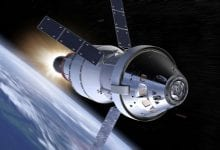 An illustration of the brand new Orion space capsule that was designed for the new 2024 Moon Landing.
