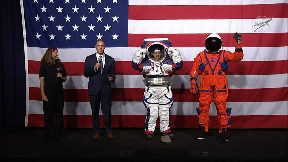 NASA revealed two spacesuits designed for the 2024 Moon Landing.