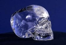 The most famous crystal skull in the world, allegedly discovered under a Mesoamerican pyramid by Mitchell Hedges.