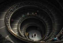 An image of the Bramante Staircase. Jumpstory.