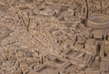 Scale model of Rome. The archaeologist who created it claims it took 36 years to complete and is the most accurate model of Ancient Rome.