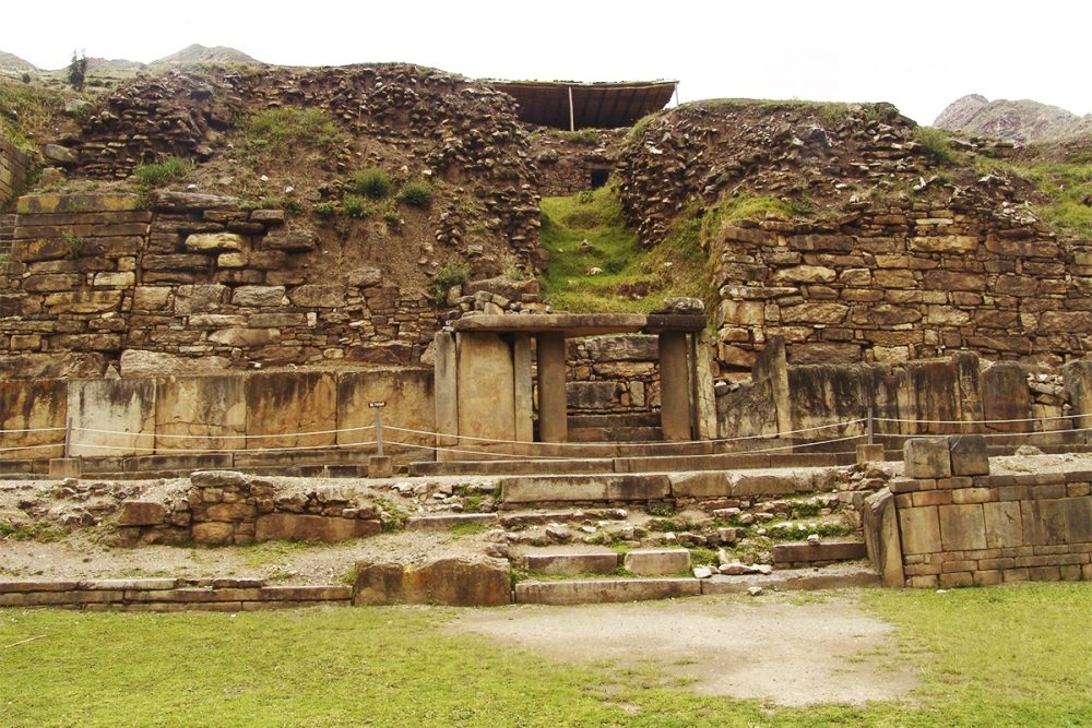 Front view of the remains of the castle in Chavin de Huantar. Source: Info Peru