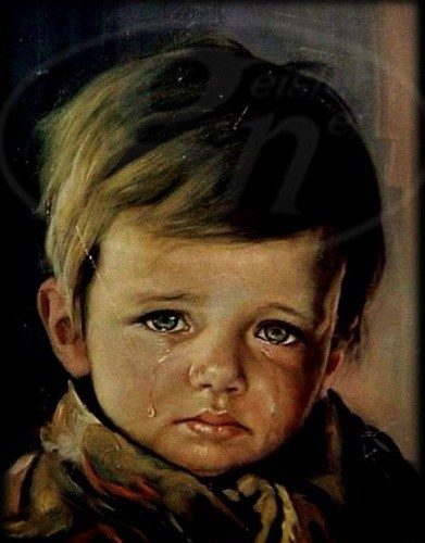 The painting of the crying boy. Source: Medium
